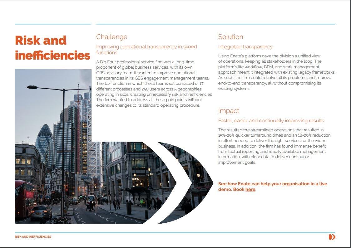 Risk and inefficiencies