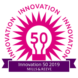 The 50 logo pink and purple