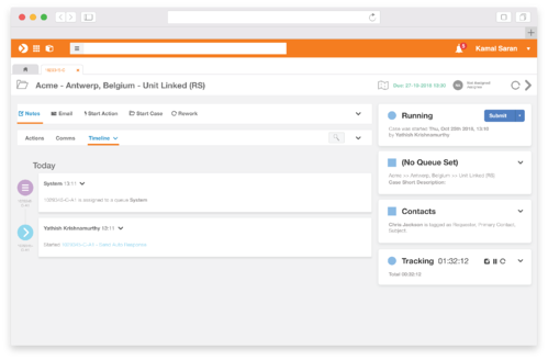 Enate's WorkManager module for team leaders and members