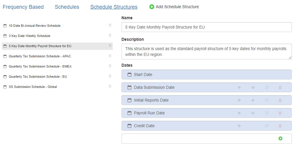 schedule structure