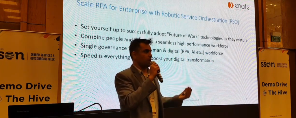 At SSON Week 2018: Scaling RPA for enterprise with Enate's Robotic Service Orchestration (RSO)